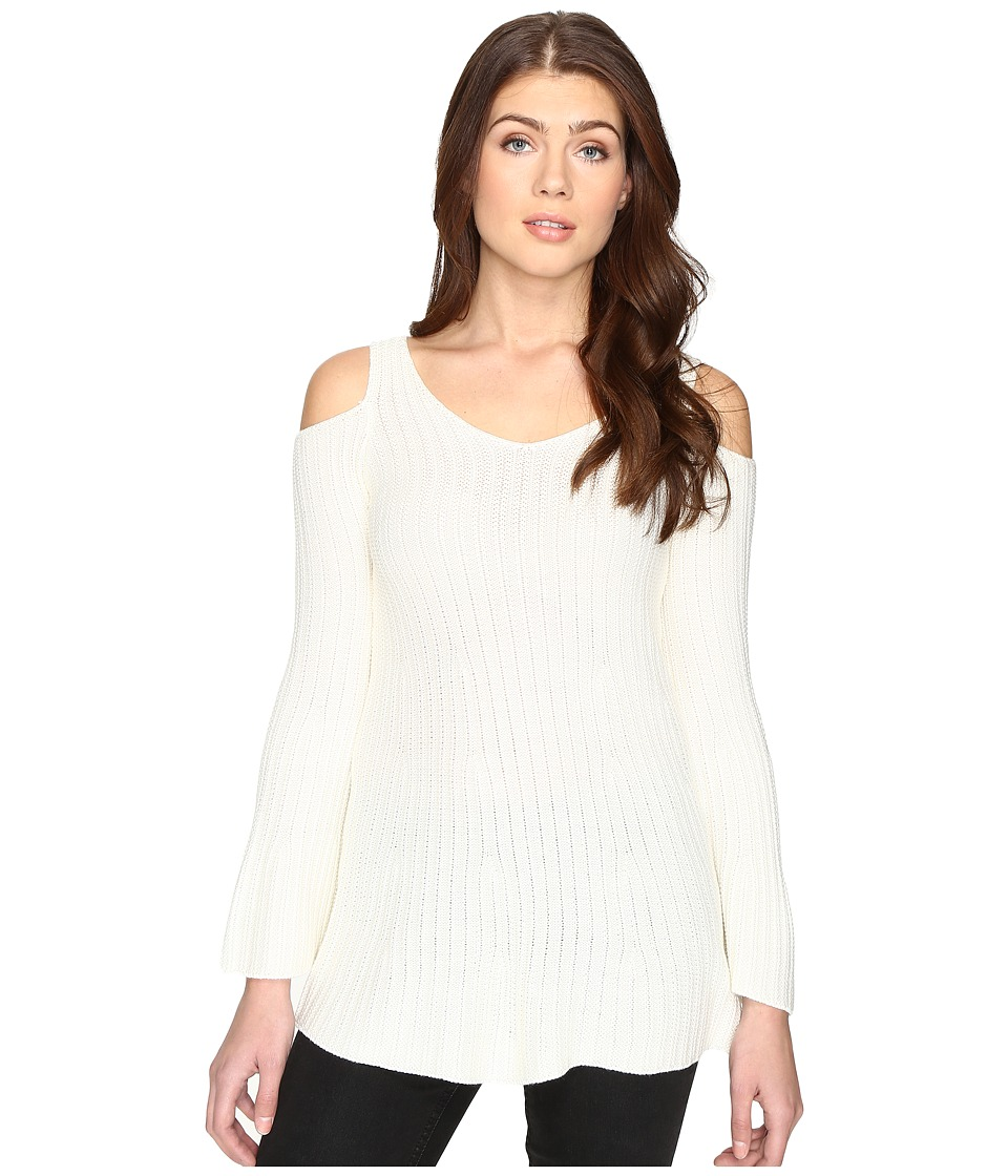 CATHERINE Catherine Malandrino - Long Sleeve Cold Shoulder Sweater (Macadamia Ivory) Women's Sweater