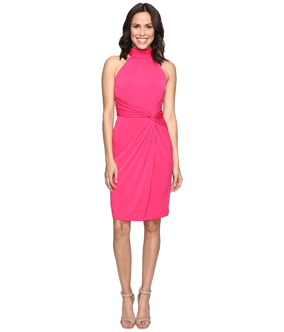 CATHERINE Catherine Malandrino - Sleeveless Mock Neck Wrap Dress (Pinup Pink) Women's Dress