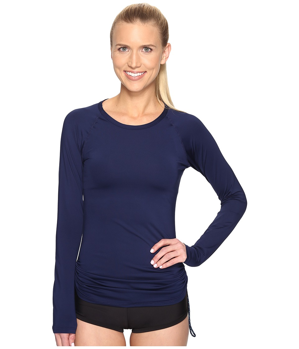 TYR Solids Swim Shirt (Navy) Women
