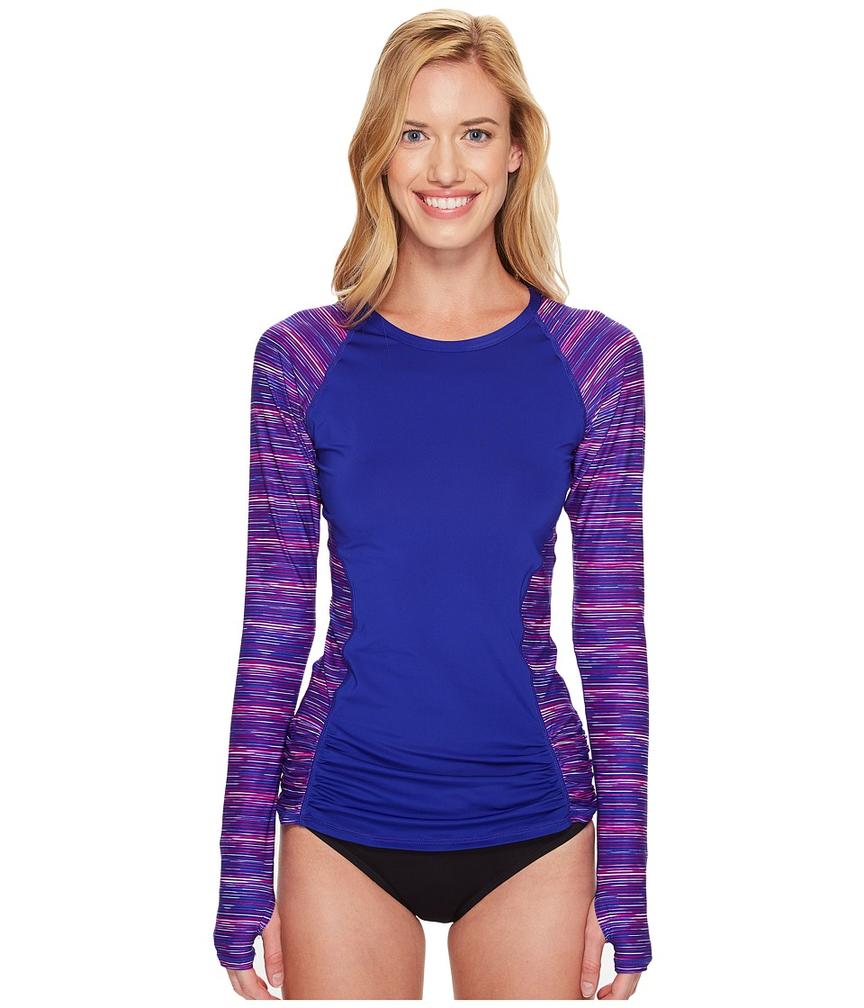TYR Cyprus Aria Long Sleeve Rashguard (Pink/Purple) Women