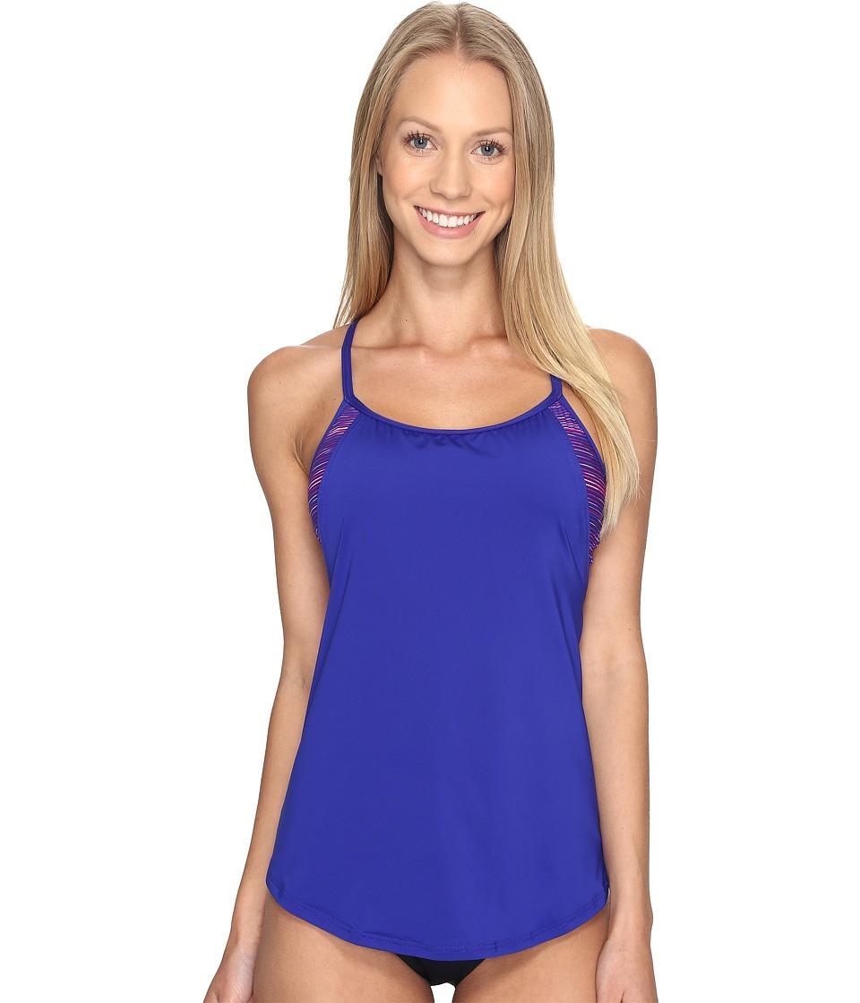 TYR - Cyprus Shea 2-in-1 Tank Top (Pink/Purple) Women's Swimwear