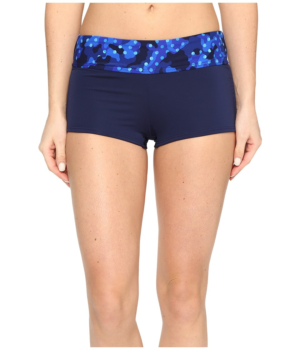 TYR Cadet Della Boyshorts (Royal/Navy) Women