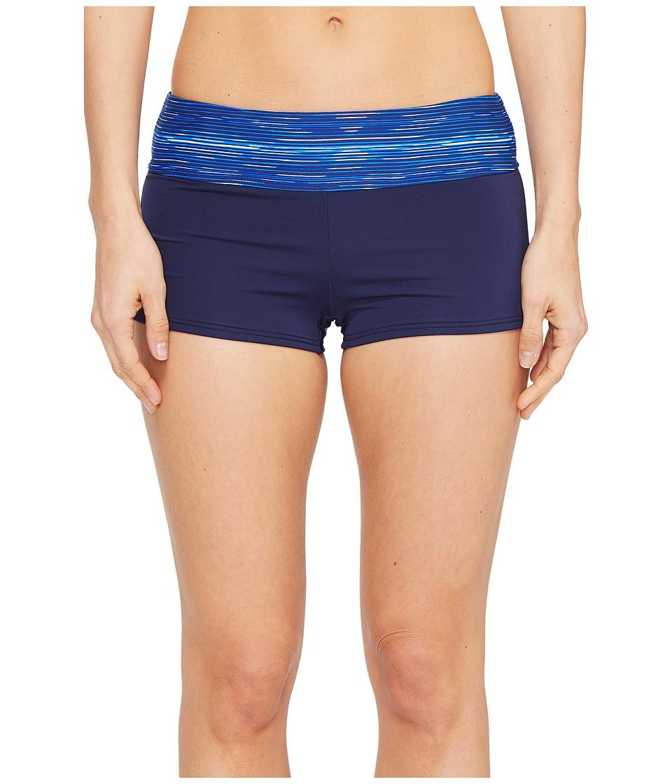 TYR - Cyprus Della Boyshorts (Navy/Royal) Women's Swimwear