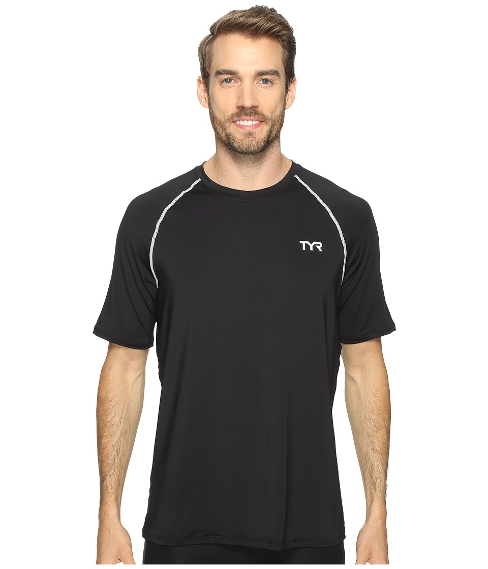 TYR - Short Sleeve Rashguard (Black) Men's Swimwear