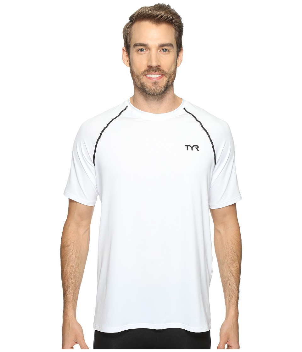 TYR - Short Sleeve Rashguard (White) Men's Swimwear
