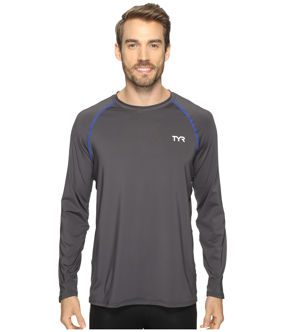 TYR - Long Sleeve Rashguard (Grey) Men's Swimwear