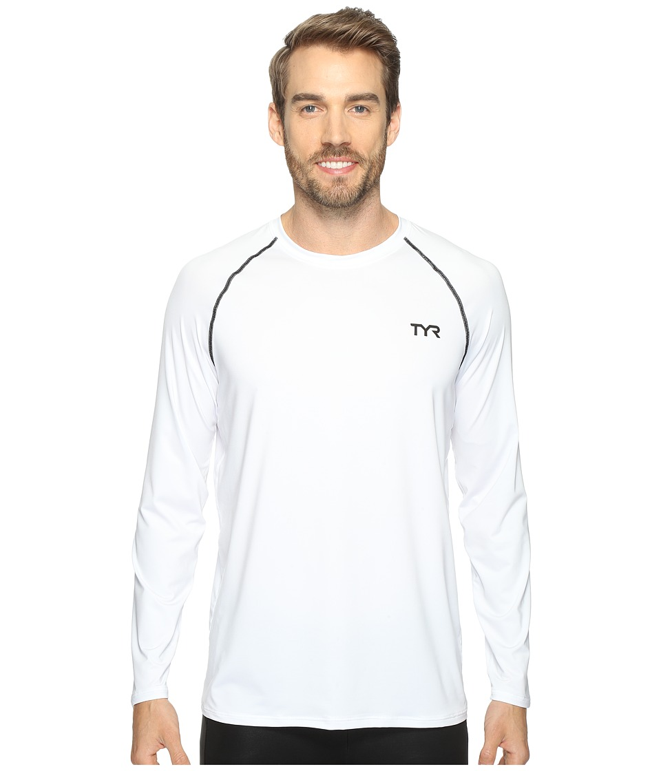 TYR - Long Sleeve Rashguard (White) Men's Swimwear