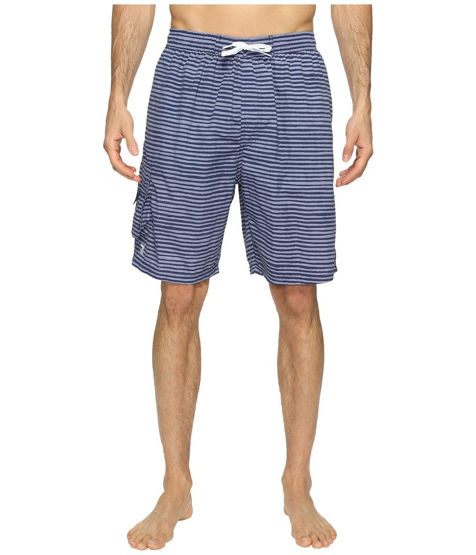 TYR - Micro Stripe Challenger Shorts (Charcoal) Men's Swimwear
