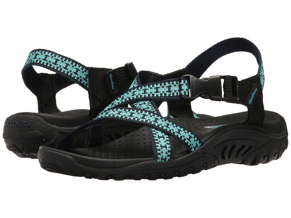 SKECHERS - Reggae - Kooky (Teal/Navy) Women's Sandals