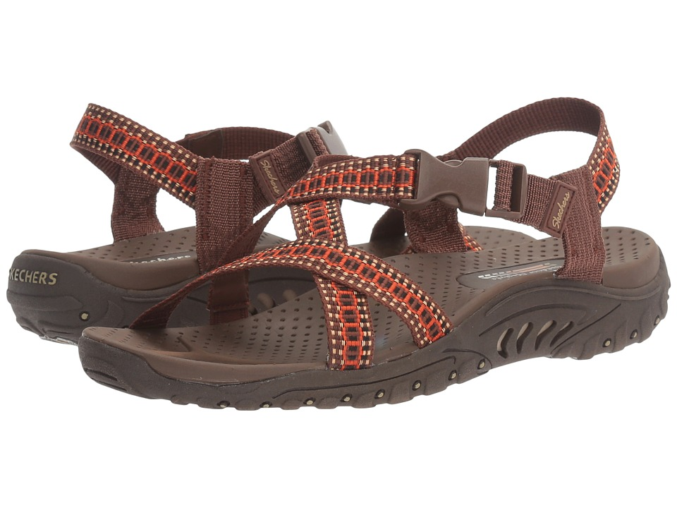 SKECHERS - Reggae - Kooky (Brown/Orange) Women's Sandals