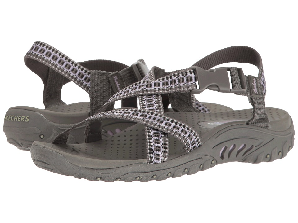 SKECHERS - Reggae - Kooky (Charcoal/Purple) Women's Sandals
