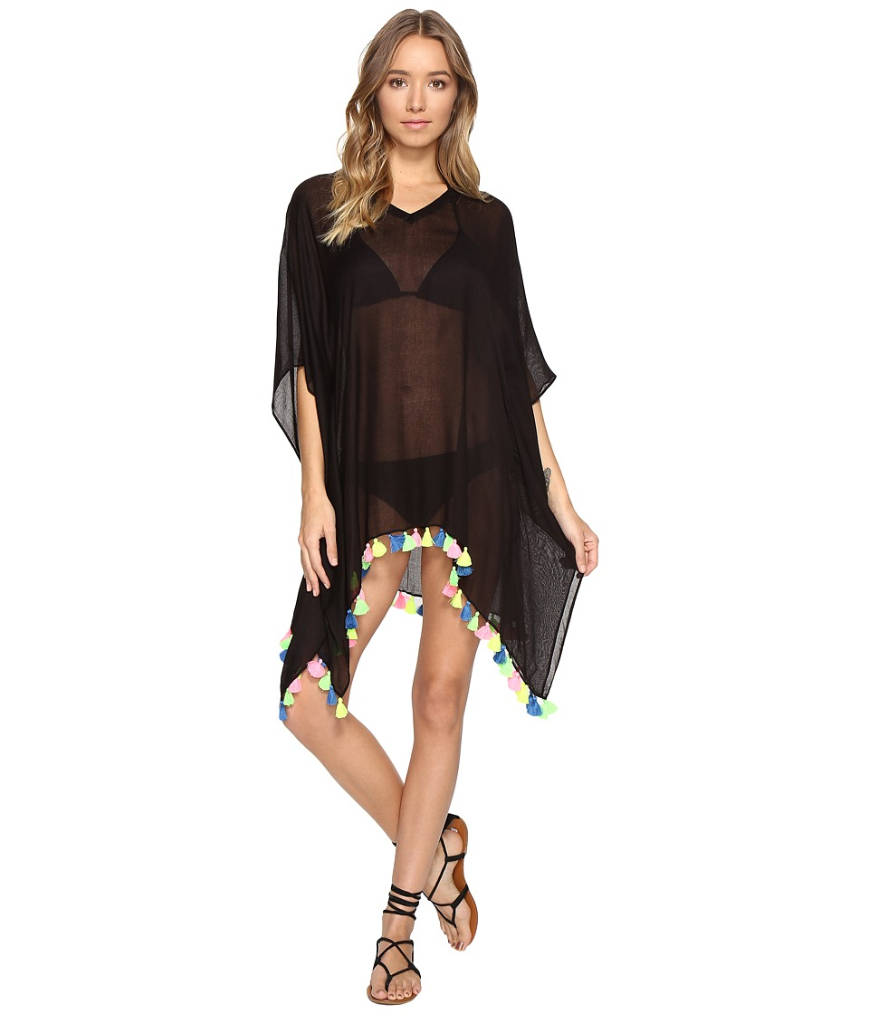 Bindya - Neon Tassel Cover-Up Dress (Black) Women's Dress