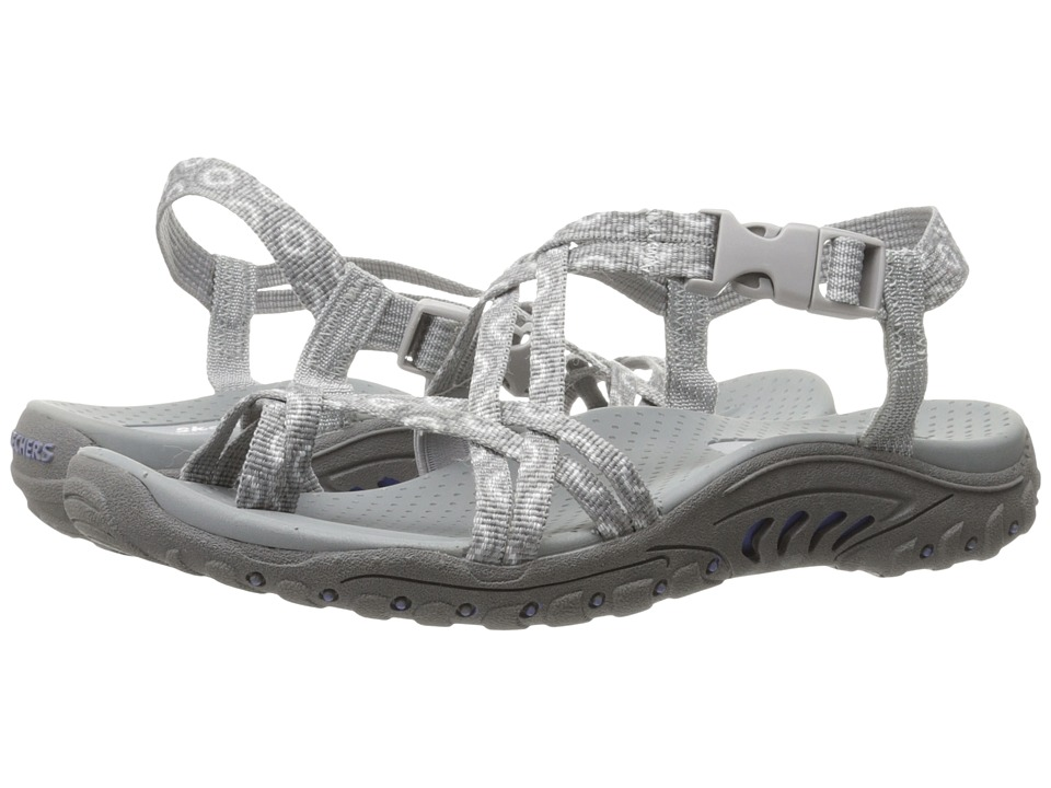 SKECHERS - Reggae - Happy Rainbow (Grey) Women's Shoes