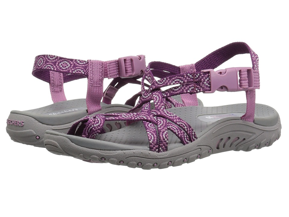SKECHERS - Reggae - Happy Rainbow (Purple) Women's Shoes