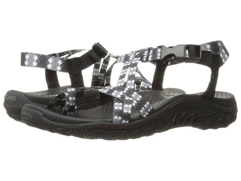 SKECHERS - Reggae - Tie-Dyed (Black) Women's Shoes