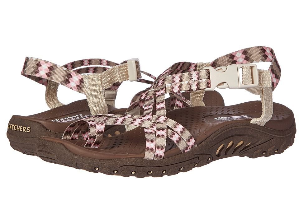 SKECHERS - Reggae - Tie-Dyed (Natural) Women's Shoes