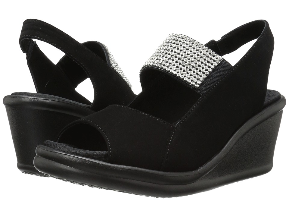 SKECHERS - Rumblers - Sparkle On (Black) Women's Shoes