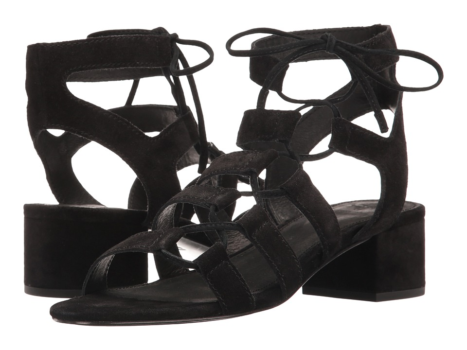 Frye - Chrissy Side Ghillie (Black Soft Oiled Suede) Women's Dress Sandals