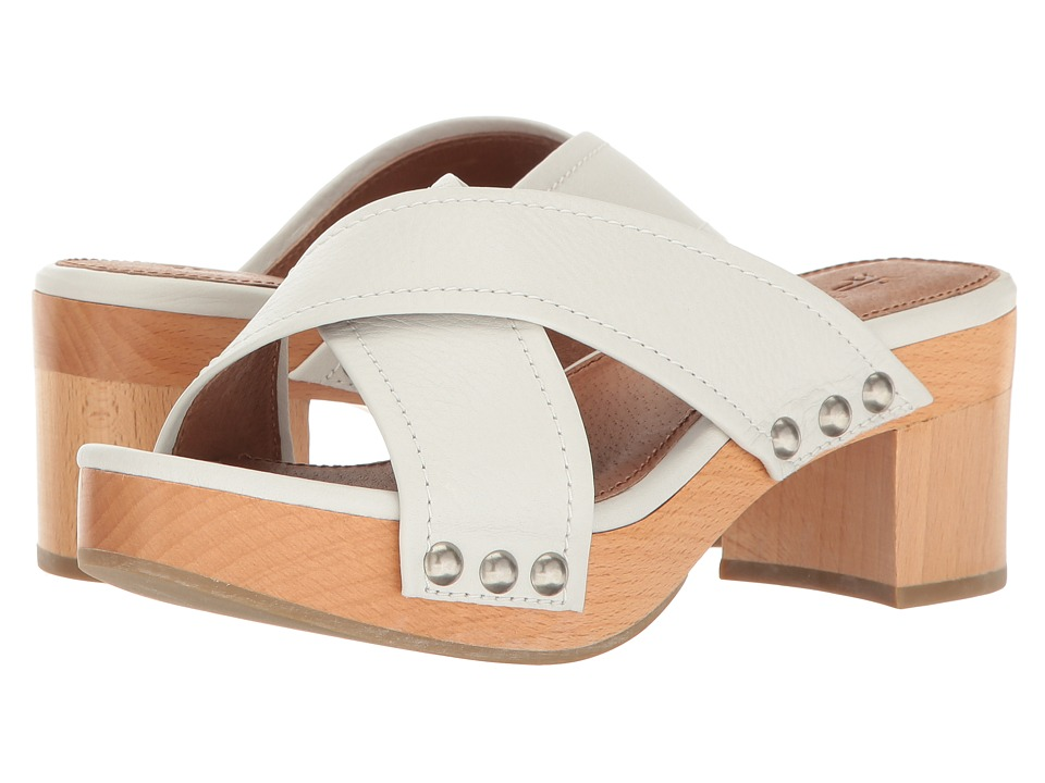 Frye Fiona Slide (White Soft Full Grain) Women