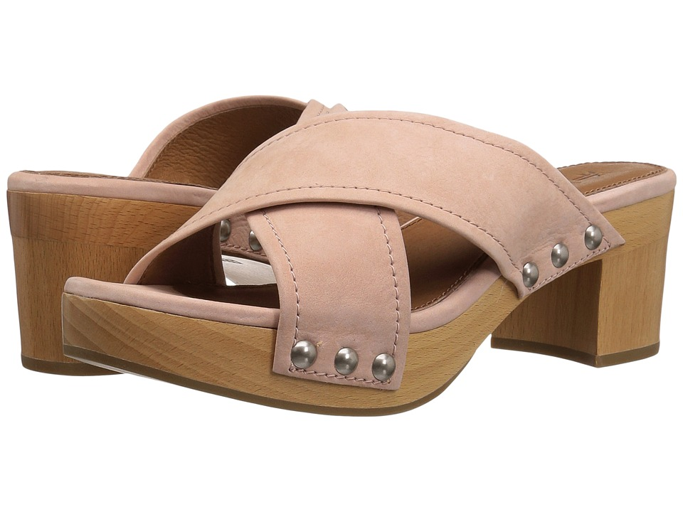 Frye Fiona Slide (Blush Soft Tumbled Nubuck) Women