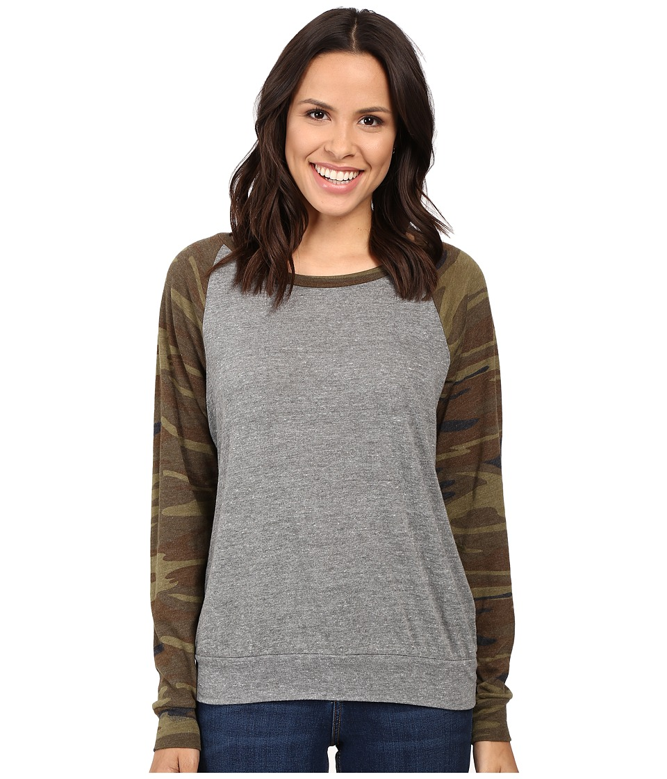 Alternative - Printed Slouchy Pullover (Eco Grey/Camo) Women's Sweatshirt