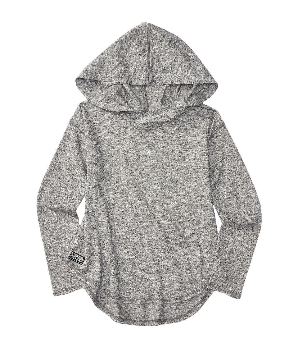 Polo Ralph Lauren Kids - Long Sleeve Hoodie Pull-Over (Little Kids) (Pepper Heather) Girl's Sweatshirt