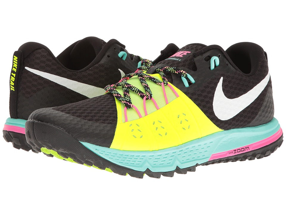Nike - Air Zoom Wildhorse 4 (Black/White/Volt/Hyper Turquoise) Men's Running Shoes