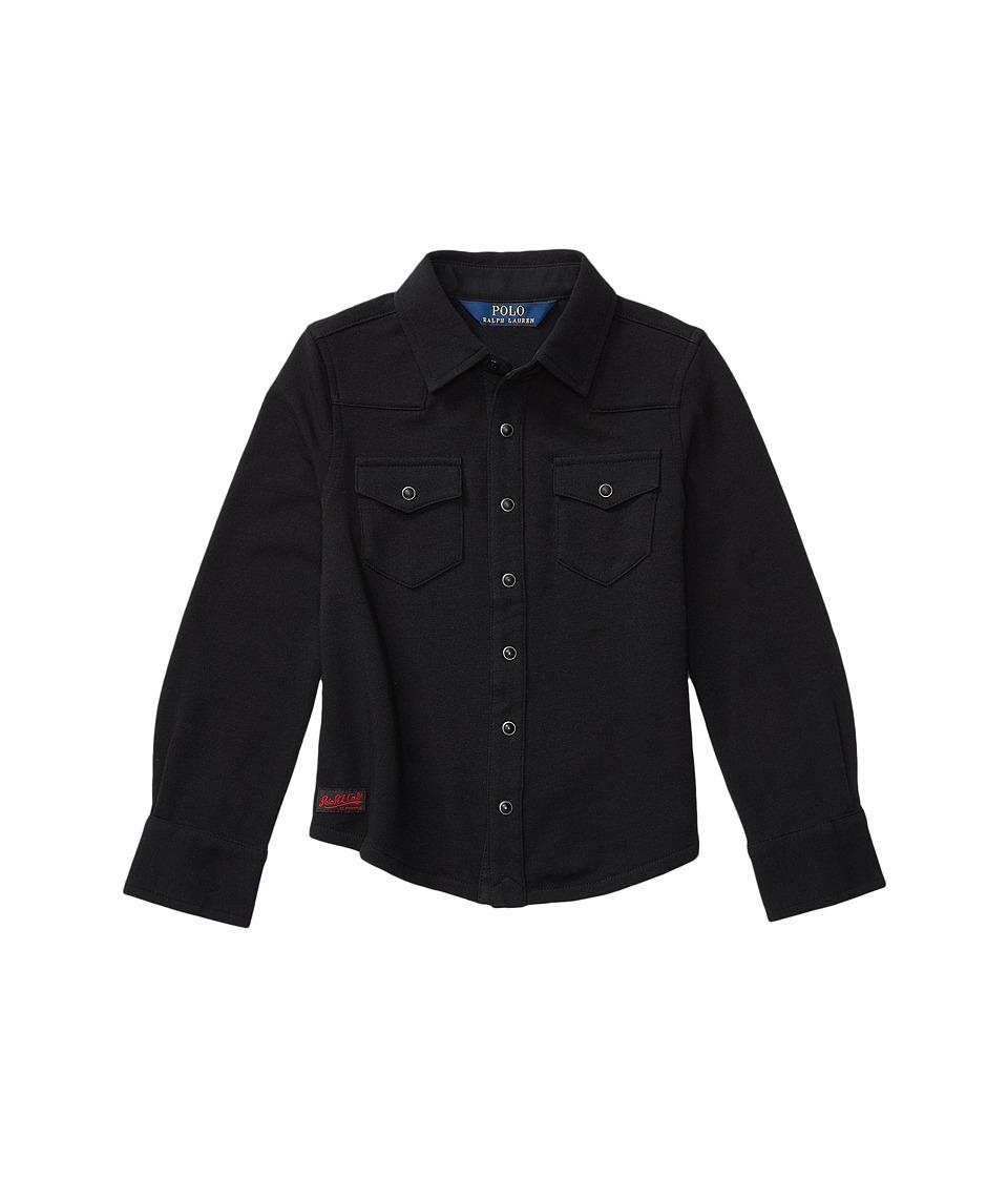 Polo Ralph Lauren Kids - Western Shirt (Little Kids) (Collection Black) Girl's Long Sleeve Button Up