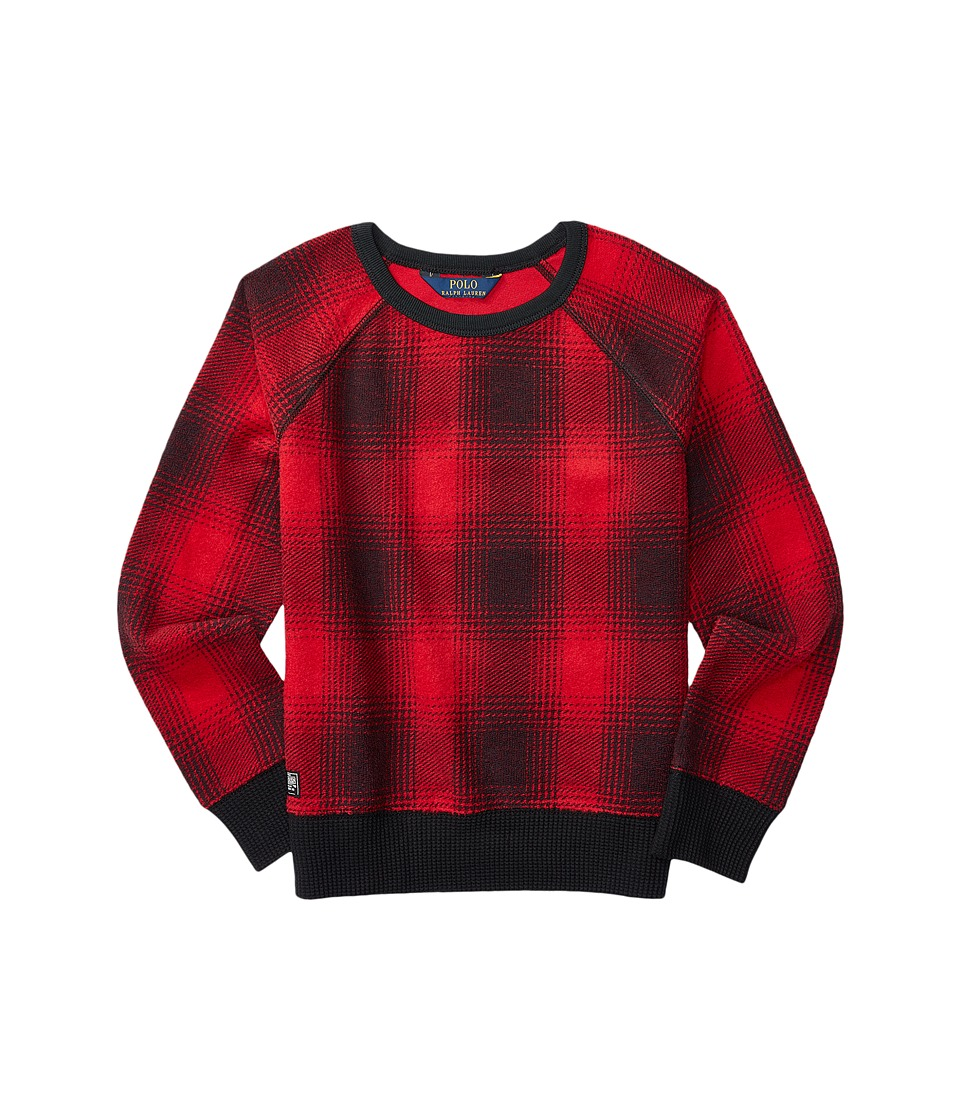 Polo Ralph Lauren Kids - Printed Knit Top (Little Kids) (Red/Black) Girl's Clothing