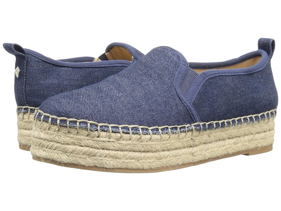Sam Edelman - Carrin (Navy Chambray Fabric) Women's Slip on Shoes