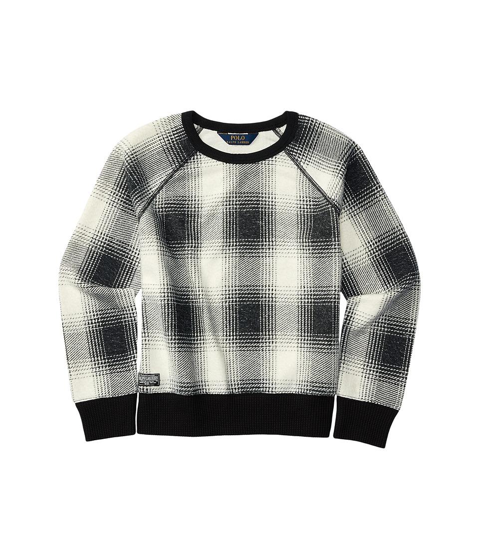 Polo Ralph Lauren Kids - Printed Knit Top (Little Kids) (Cream/Black) Girl's Clothing