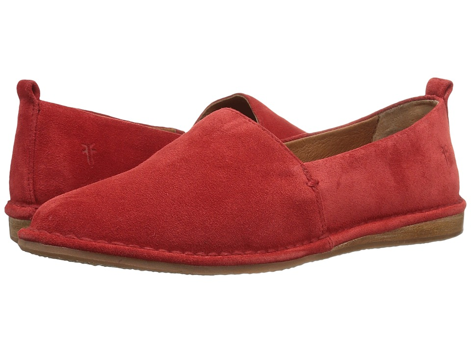 Frye - Helena A Line (Red Soft Oiled Suede) Women's Slip on Shoes