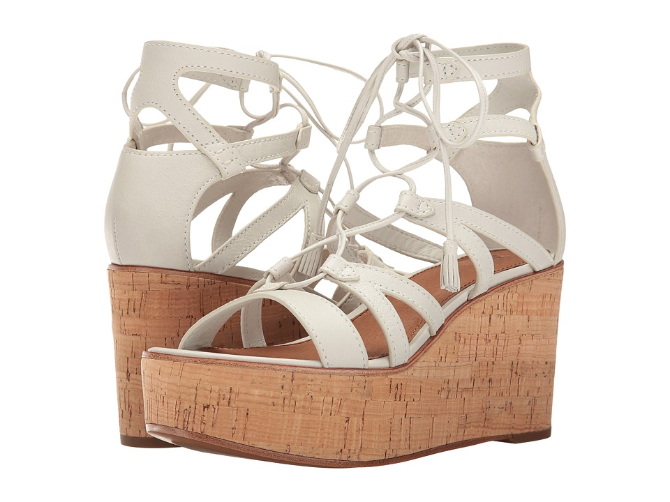 Frye - Heather Gladiator (White Polished Soft Full Grain) Women's Wedge Shoes