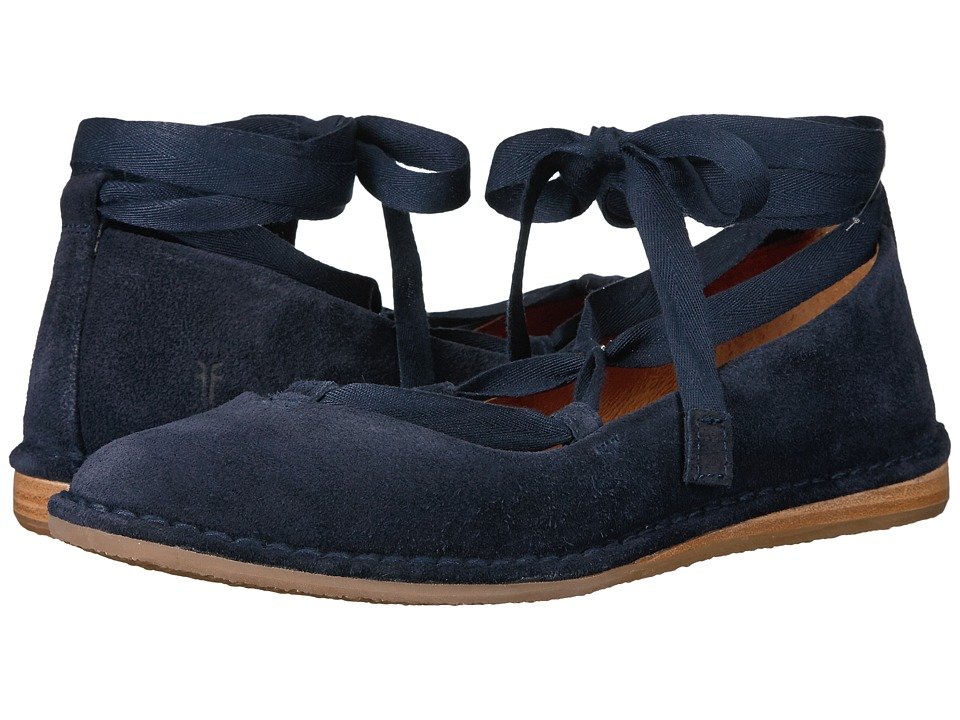 Frye Helena Ankle Tie (Navy Soft Oiled Suede) Women