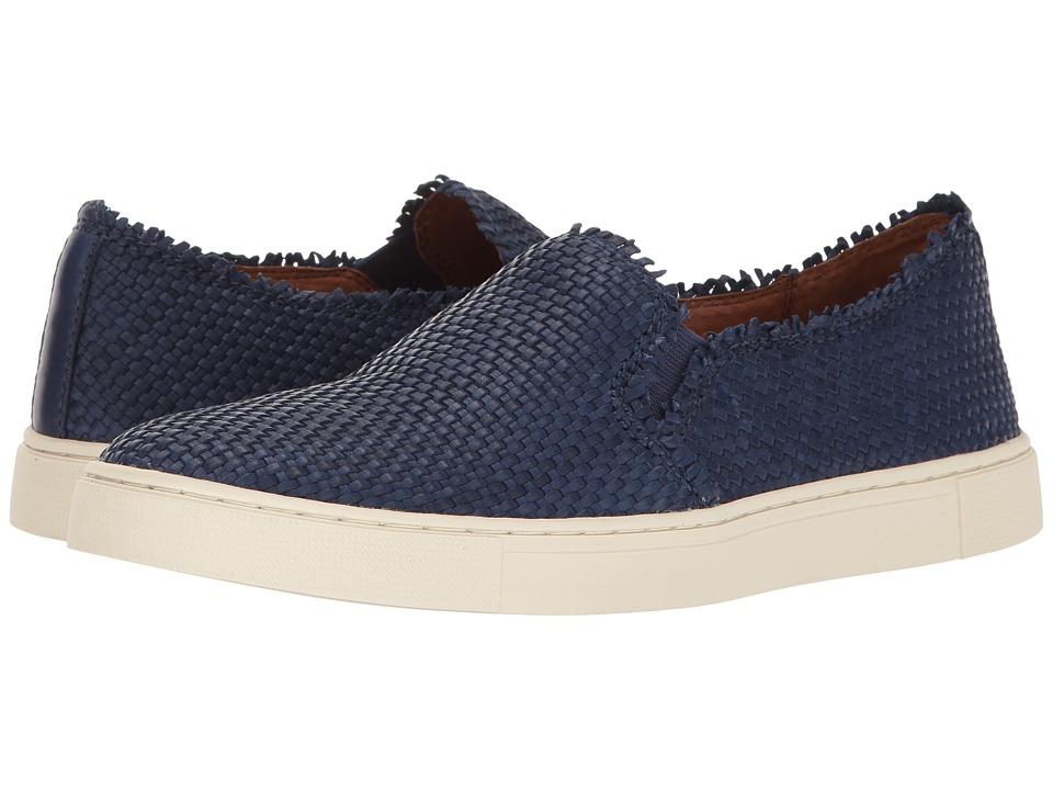 Frye - Ivy Fray Woven Slip-On (Navy Polished Soft Full Grain) Women's Slip on Shoes