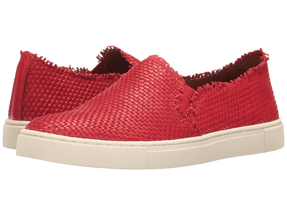 Frye - Ivy Fray Woven Slip-On (Poppy Polished Soft Full Grain) Women's Slip on Shoes