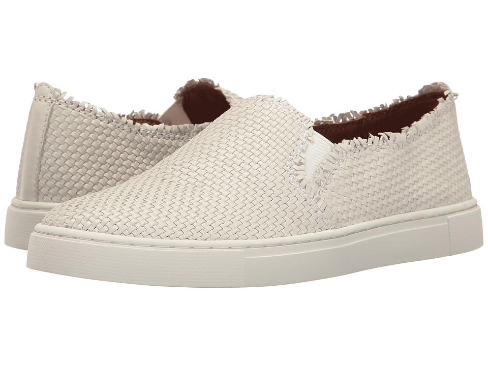Frye - Ivy Fray Woven Slip-On (White Polished Soft Full Grain) Women's Slip on Shoes