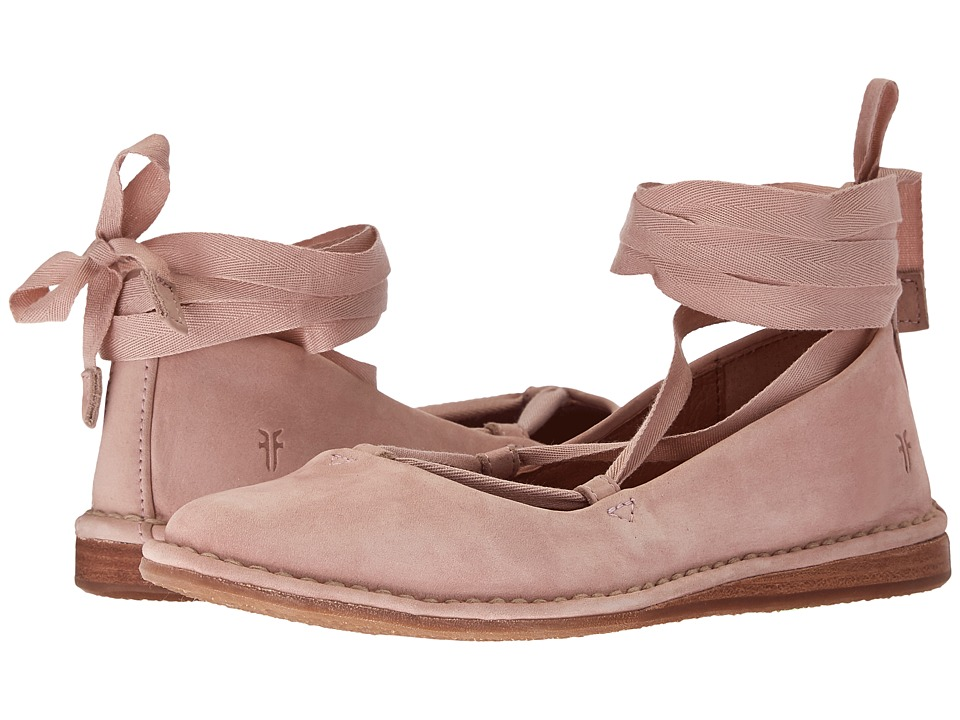 Frye - Helena Ankle Tie (Blush Oiled Nubuck) Women's Dress Sandals
