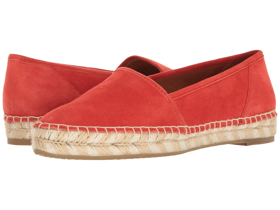 Frye - Lee A Line (Coral Suede) Women's Slip on Shoes