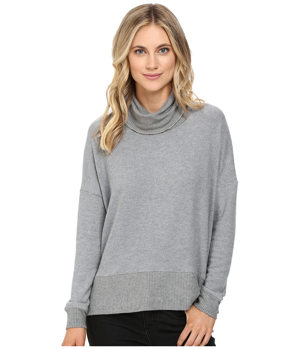 Three Dots - Laurel Funnel Neck Sweater (Granite) Women's Sweater
