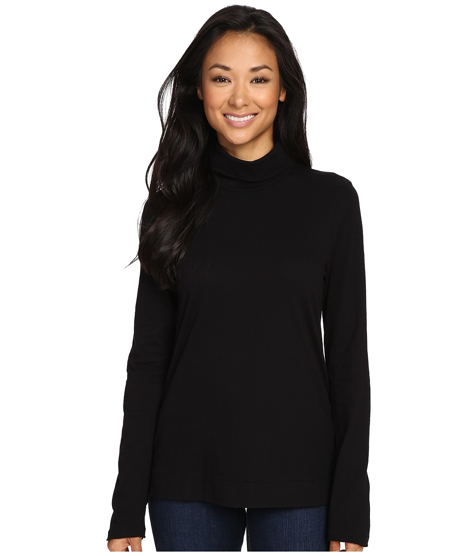 Three Dots - Davida - Long Sleeve Turtleneck (Black) Women's Clothing