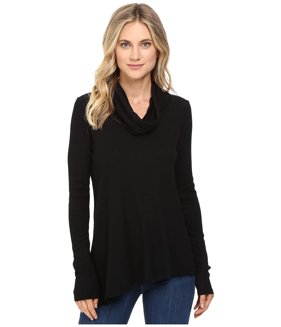 Three Dots - Autumn - Asymmetrical Tunic (Black) Women's Clothing