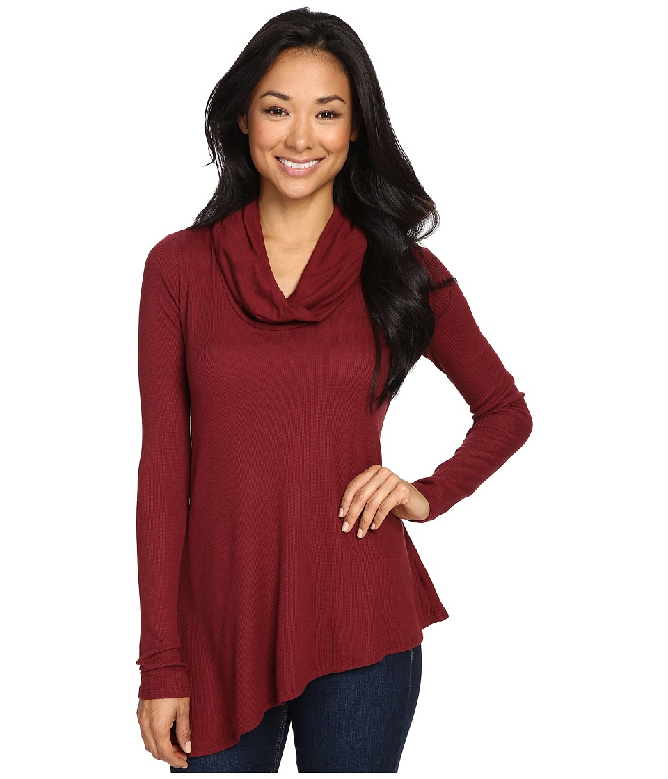 Three Dots - Autumn - Asymmetrical Tunic (Malbec) Women's Clothing