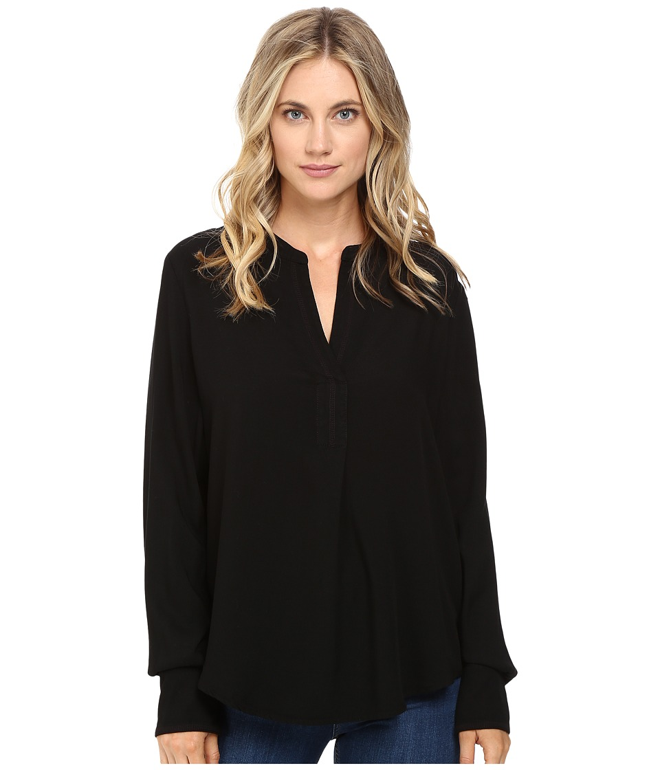Three Dots - Hadley - Long Sleeve Shirt (Black) Women's Clothing