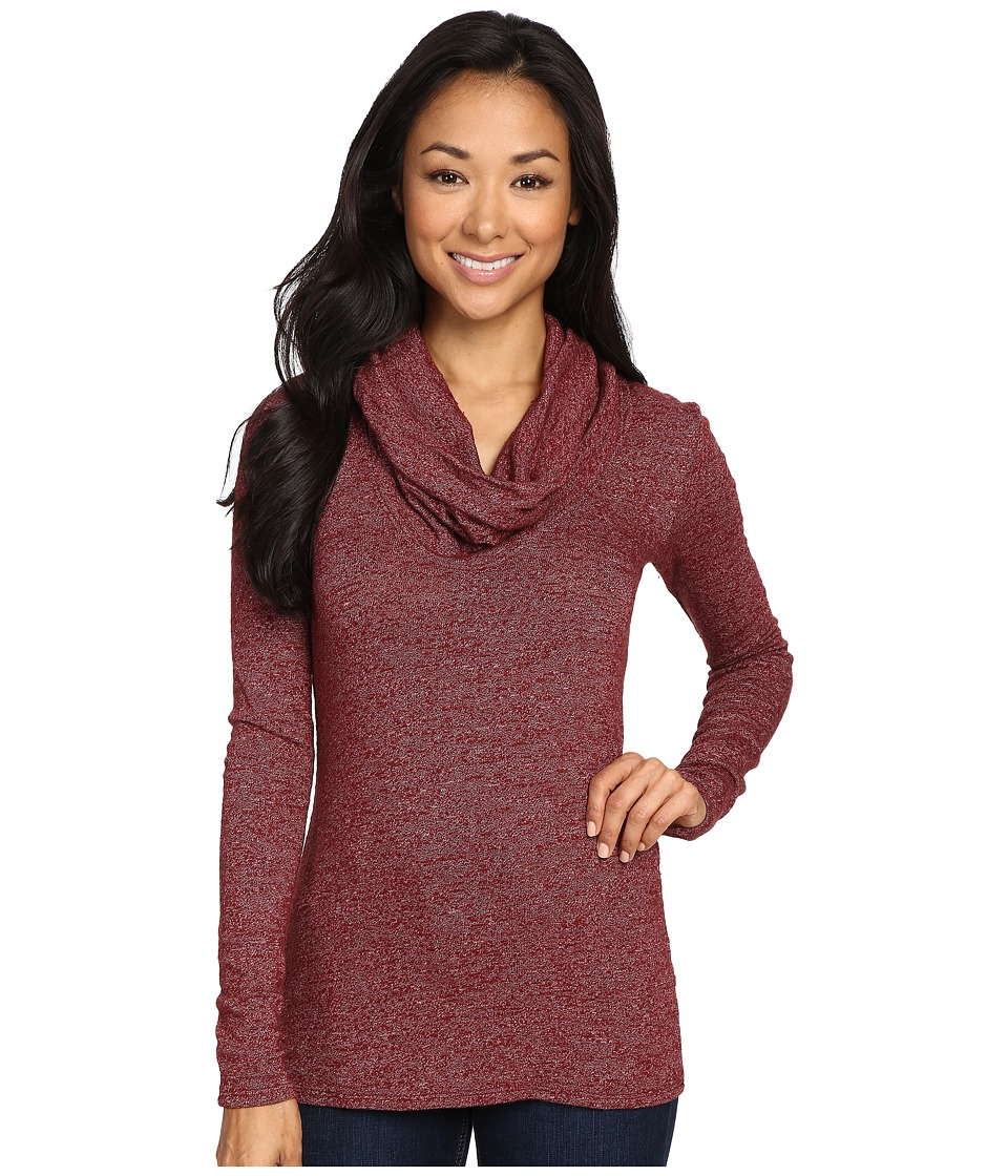Three Dots - Long Sleeve Cowl Neck Tunic (Malbec) Women's Clothing