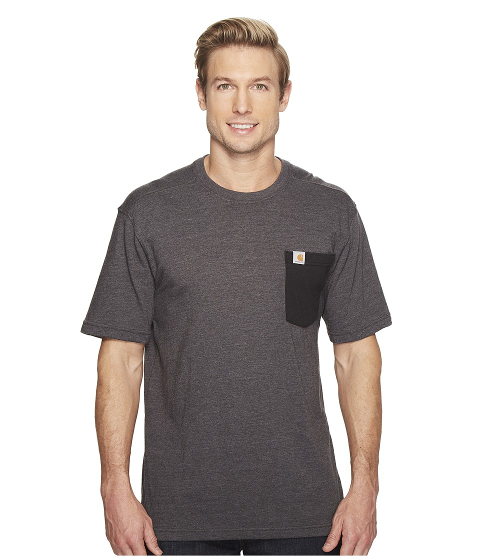 Carhartt - Maddock Novelty Pocket Short Sleeve T-Shirt (Carbon Heather) Men's T Shirt