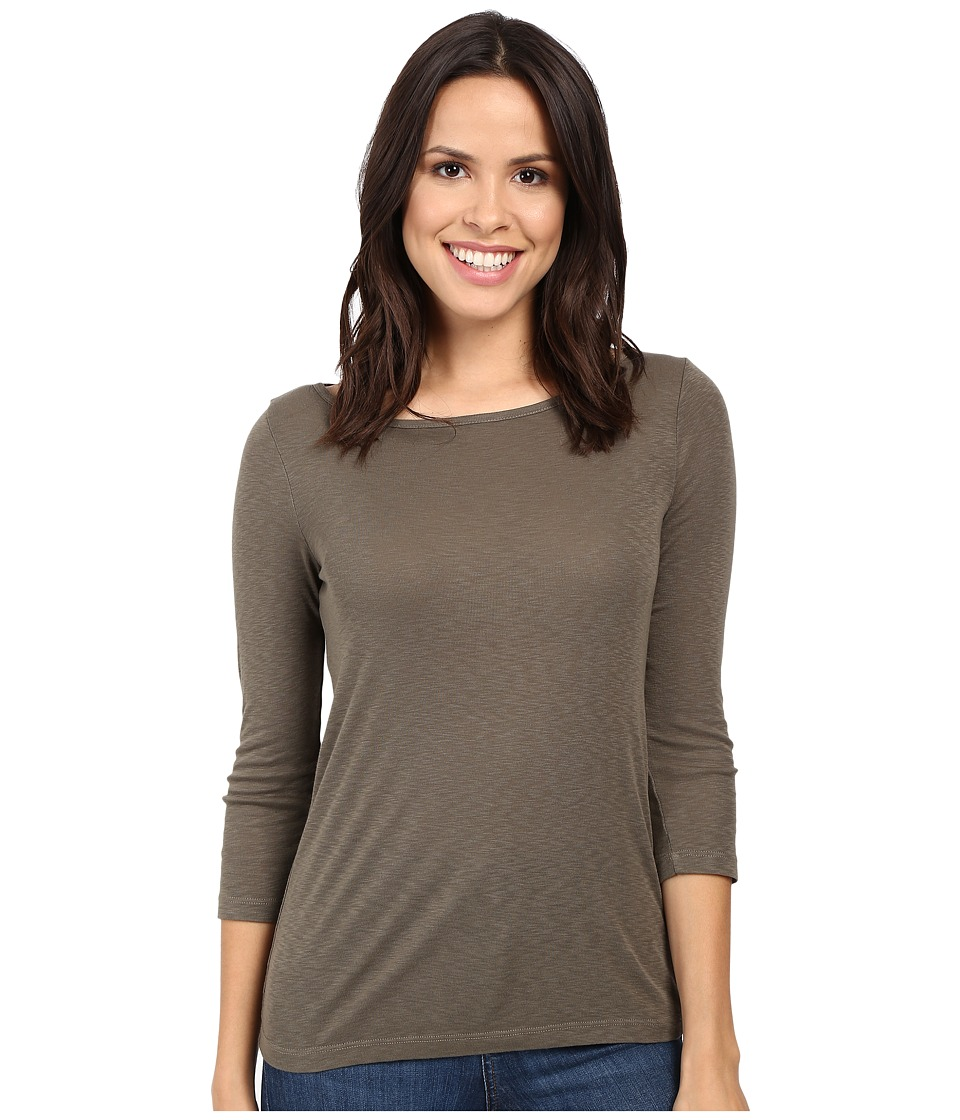 Three Dots Hannah 3/4 Sleeve British Tee (Sprig) Women