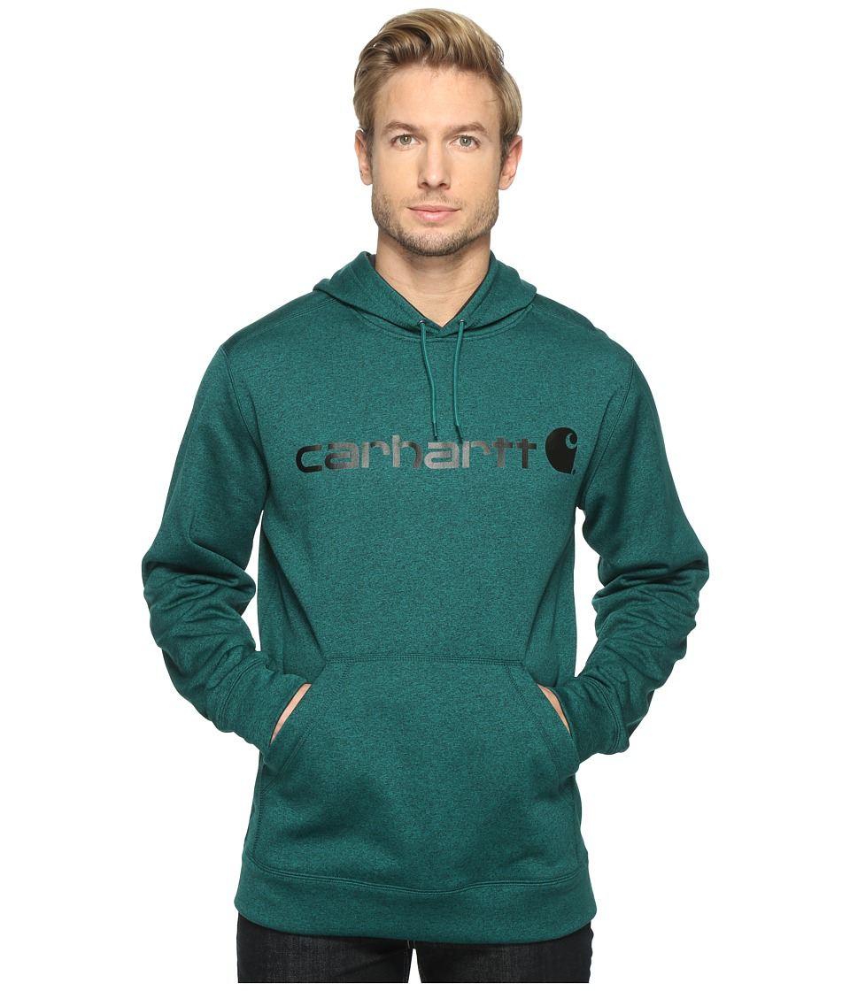 Carhartt - Force Extremes Signature Graphic Hooded Sweatshirt (Everglade Heather) Men's Sweatshirt