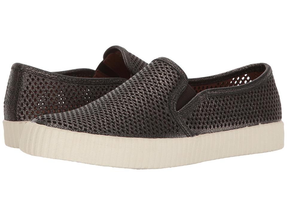 Frye - Camille Perf Slip (Pewter Metallic Full Grain) Women's Slip on Shoes