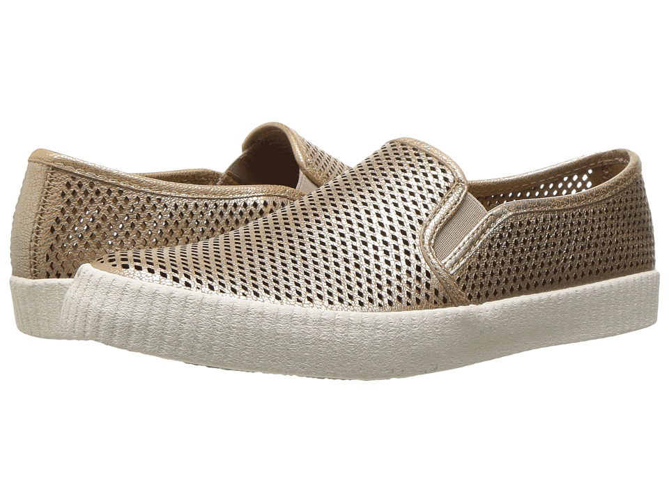 Frye - Camille Perf Slip (Gold Metallic Full Grain) Women's Slip on Shoes